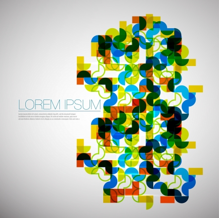 Geometric ormanent abstract background Vector