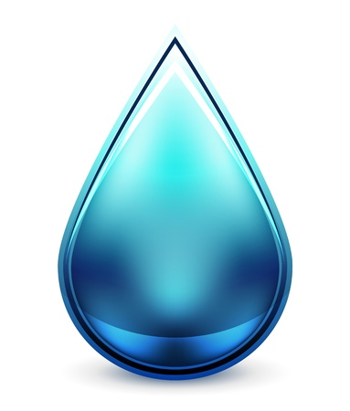 drink water: Hi-tech water drop icon