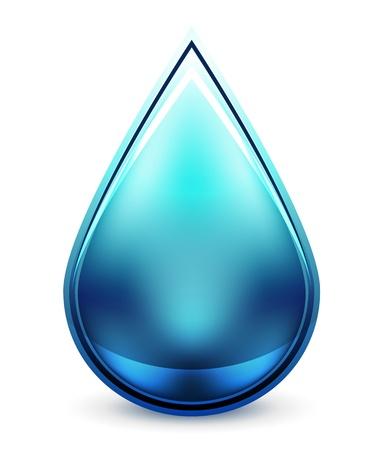 Hi-tech waterdruppel pictogram Vector Illustratie