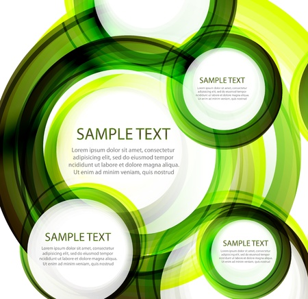 Green vector abstract swirl banner Vector