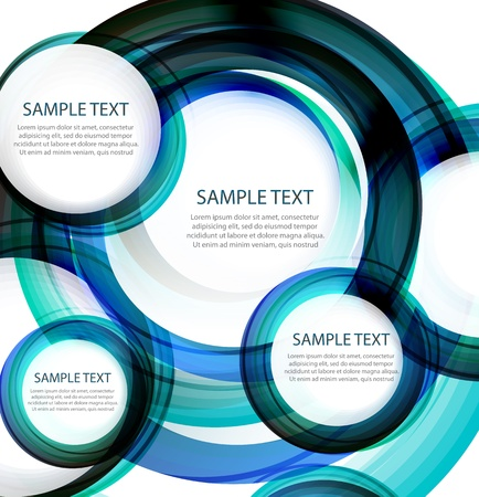 Blue vector abstract swirl banner Stock Vector - 14572191
