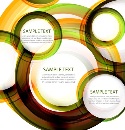 Vector abstract circles  Banner with sample text Vector