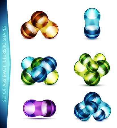 Vector set of abstract bubble shapes Stock Vector - 14593616