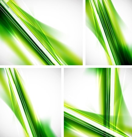 futuristic nature: Green lines background Illustration