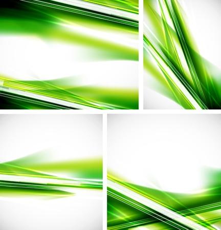 green background: Green lines background set