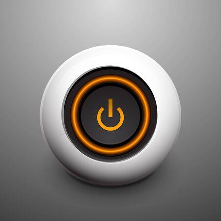 sphere power button Vector
