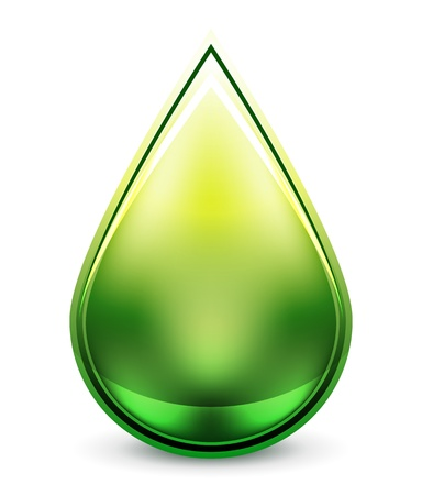 Hi-tech water drop icon Vector