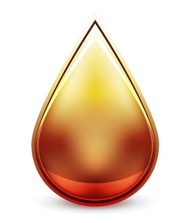 Hi-tech water drop icon Stock Vector - 14746342