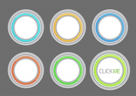 Vector hi-tech light buttons Vector
