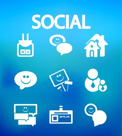 Social internet vector icons Stock Vector - 14809279