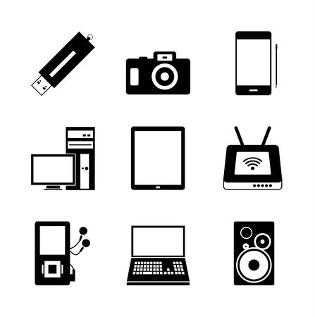 Mobile electronic icons Stock Vector - 14809284