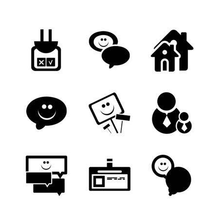 Social internet icons Stock Vector - 14898574