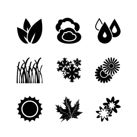 Nature vector icons photo