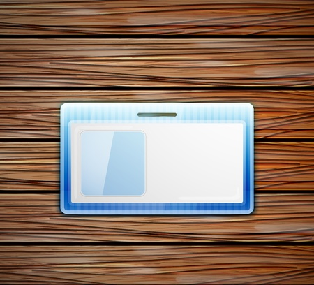 cardholder: empty id card Illustration