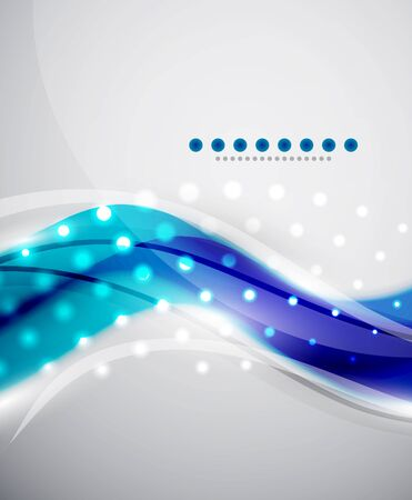 Smooth wave abstract background Vector