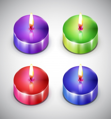 scented candle: Aroma candle icons