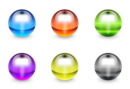 plastic gel round buttons Vector