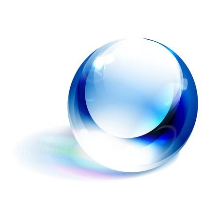 Vector blue shiny sphere Stock Vector - 15133069