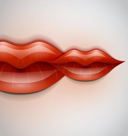 Labios fondo vector