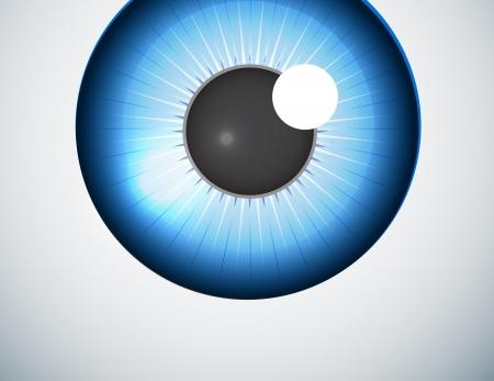eye ball: Fondo azul de la bola del ojo