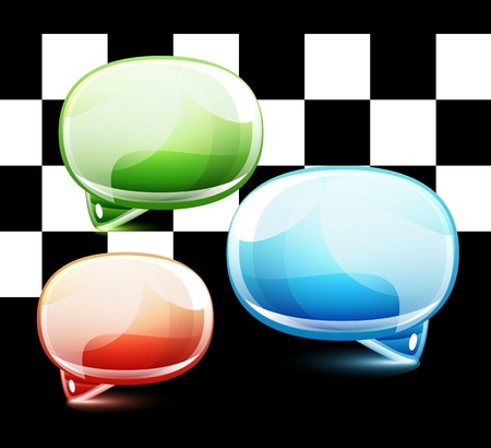 Glossy colorful speech bubbles Vector