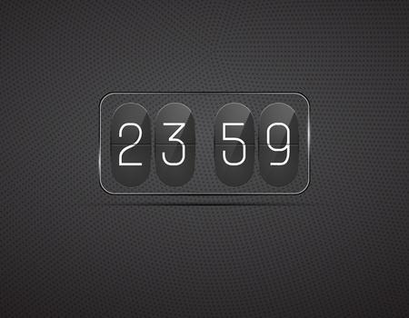 Vector glass clock Stock Vector - 15133073