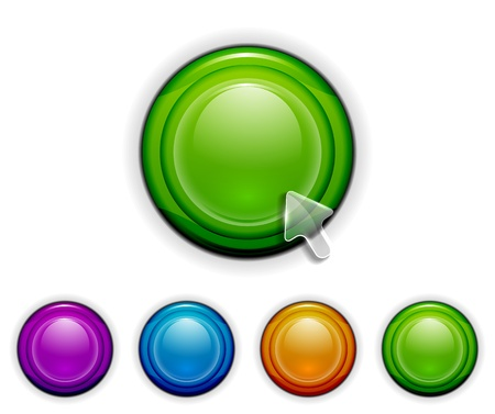 satined: Smooth buttons Illustration
