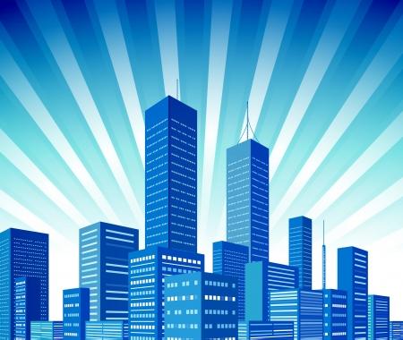 Ciudad fondo Ilustración de vector