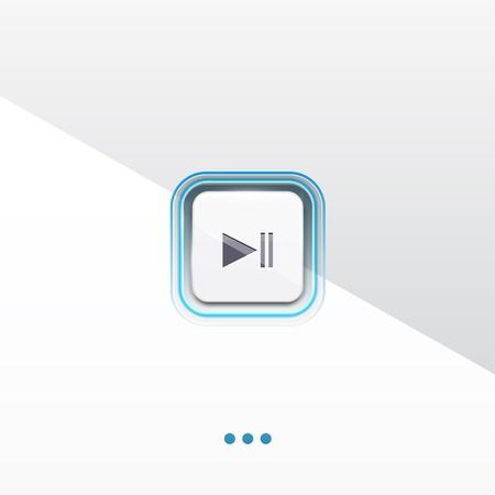 Play button design Vector