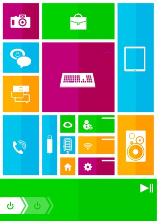 Square user interface Stock Vector - 15283558