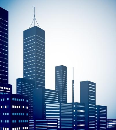 urban life: Modern city landscape background