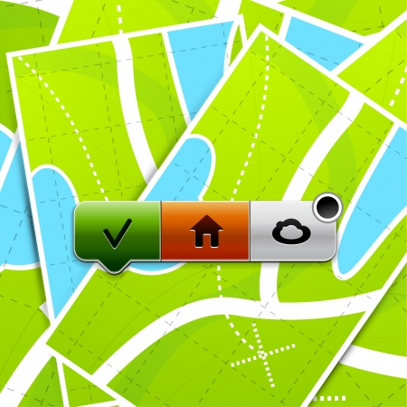 Location buttons Stock Photo - 15390570