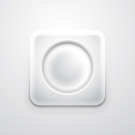 White mobile app icon with empty circle Vector