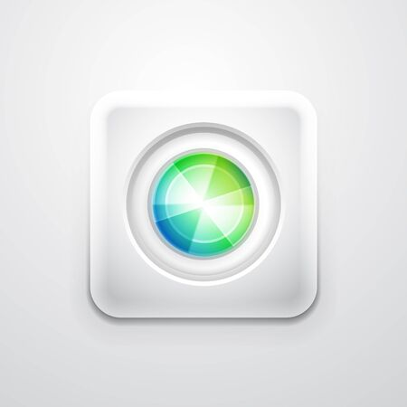 Abstract colorful circle on white square shape  Mobile app icon photo