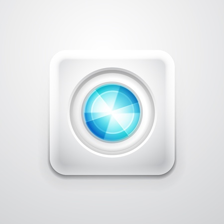 forme carre: Abstrait cercle color� sur fond blanc de forme carr�e ic�ne de l'application mobile Illustration