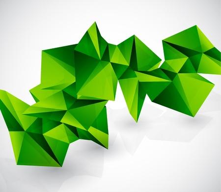 verde y morado: Colorido abstracto geom�trico