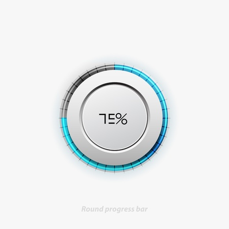 Clean round progress bar Stock Vector - 15596320