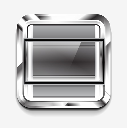 scroller: Scroller square icon Stock Photo
