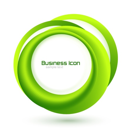 product presentation: Green eco business emblem