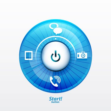 Power button with options Vector