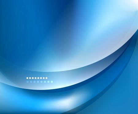 물결: 블루 부드러운 웨이브 템플릿