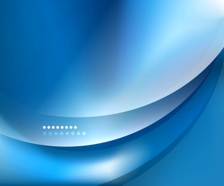 Niebieski szablon fala gładki