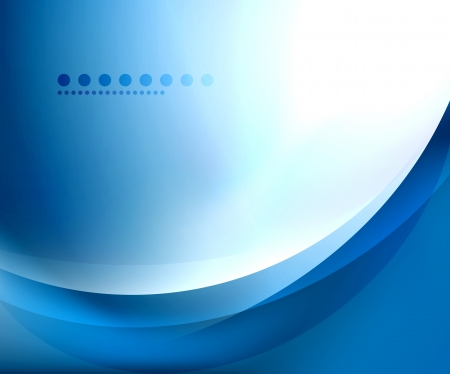 abstract backgrounds: Blue smooth wave template