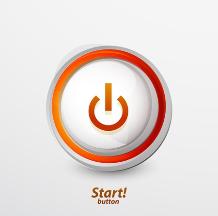 Bright power button Vector