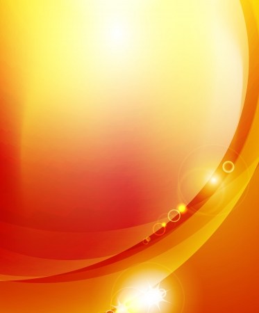 Soleil sur fond orange Illustration