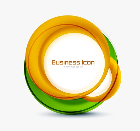 Business ecology swirl concept Stock Vector - 15969386