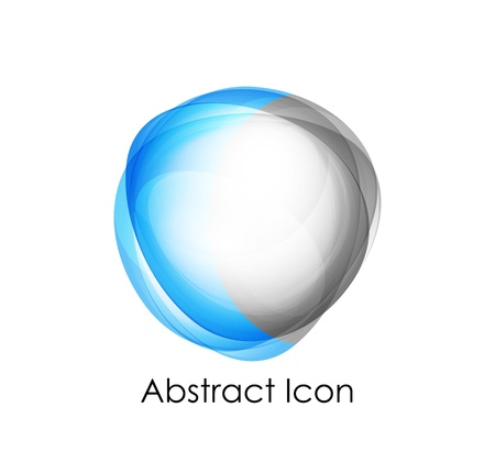 blue web icons: Abstract business icon