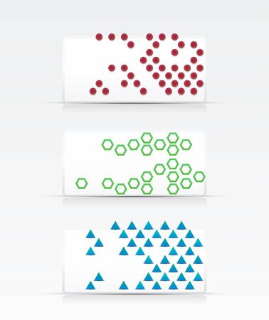 Geometrical abstract banner set Vector