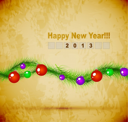 Happy New Year background Stock Vector - 16135632