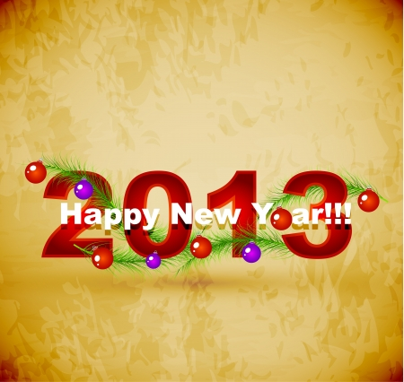Happy New Year background Stock Vector - 16135631